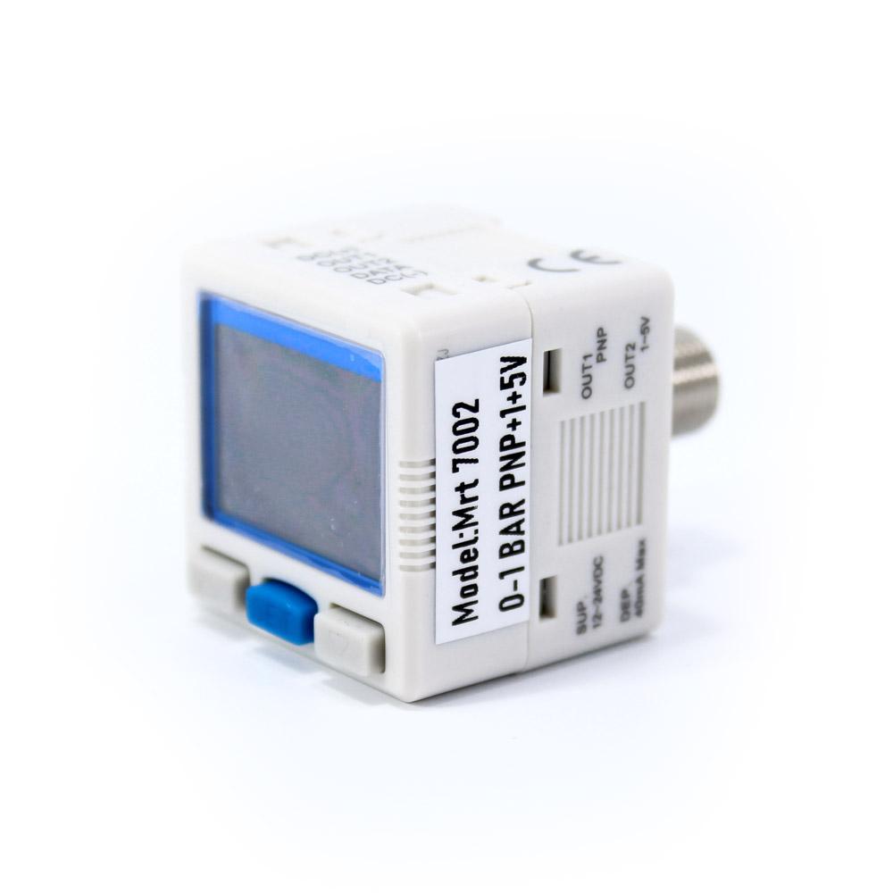 Dijital Basınç Sensörü MRT7002 1xPNP 1X1,5V 4-20mA 0/+1 Bar 12-24V DC 1/8