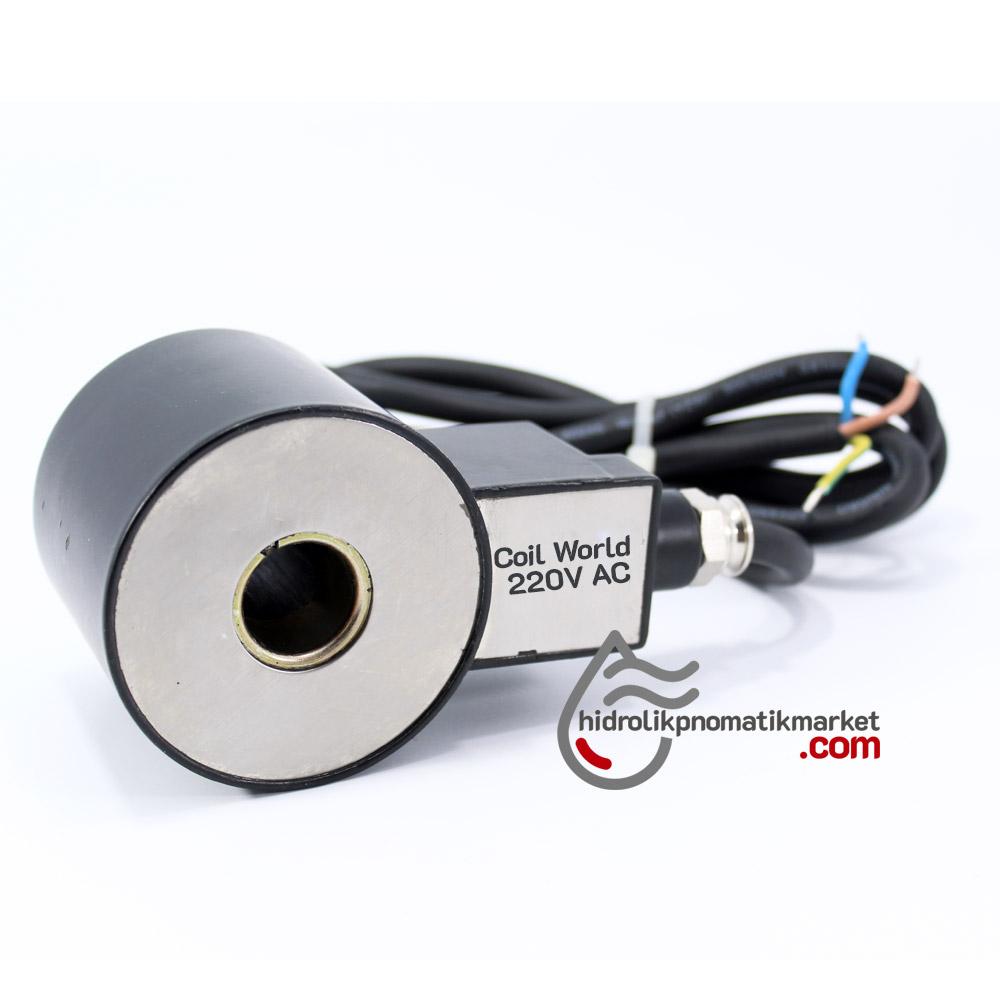 MRT 1002 220V AC Ex-Proof Bobin İç Çap 20mm x Boy 64,5mm - Soketli