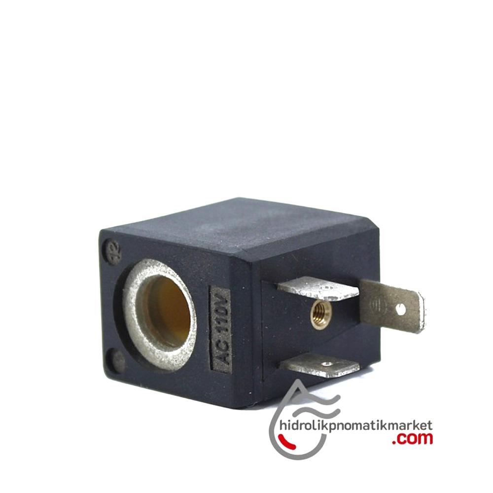 MRT4010-1 Pnömatik Valf Bobin 110V AC İç Çap 10mm x Boy 29,5mm - DIN 43650 Soket Bobin