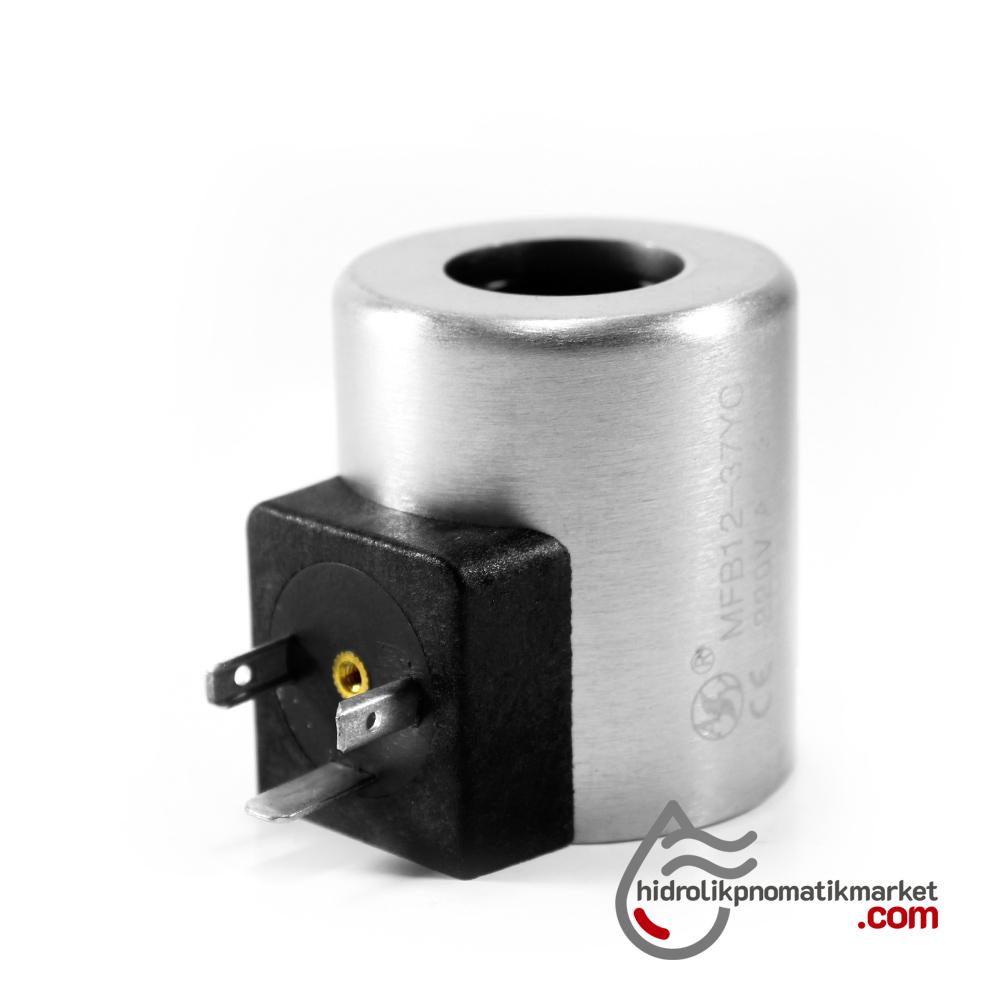 MRT 2020-1 110V AC Hidrolik Valf Bobini İç Çap 23,2mm x Boy 50,5mm - DIN 43650