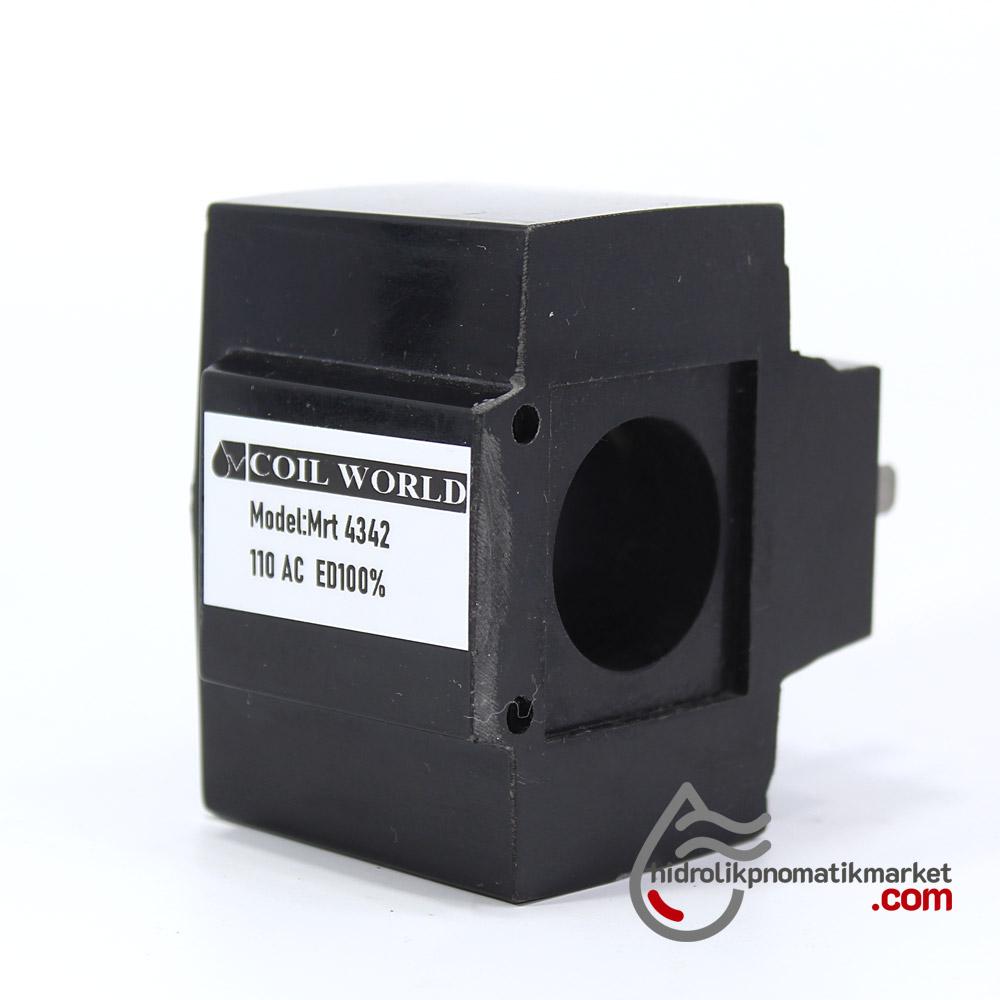 MRT 4342 110V AC Hidrolik Valf Bobini İç Çap 26,1mm x Boy 49,5mm - DIN 43650