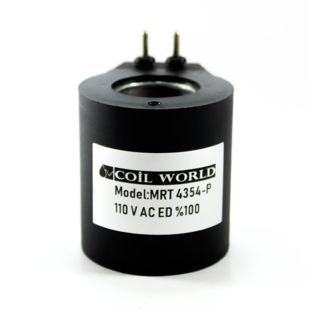 MRT 4354-P 110V AC Hidrolik Valf Bobini İç Çap 23,2mm x Boy 51mm - Pimli