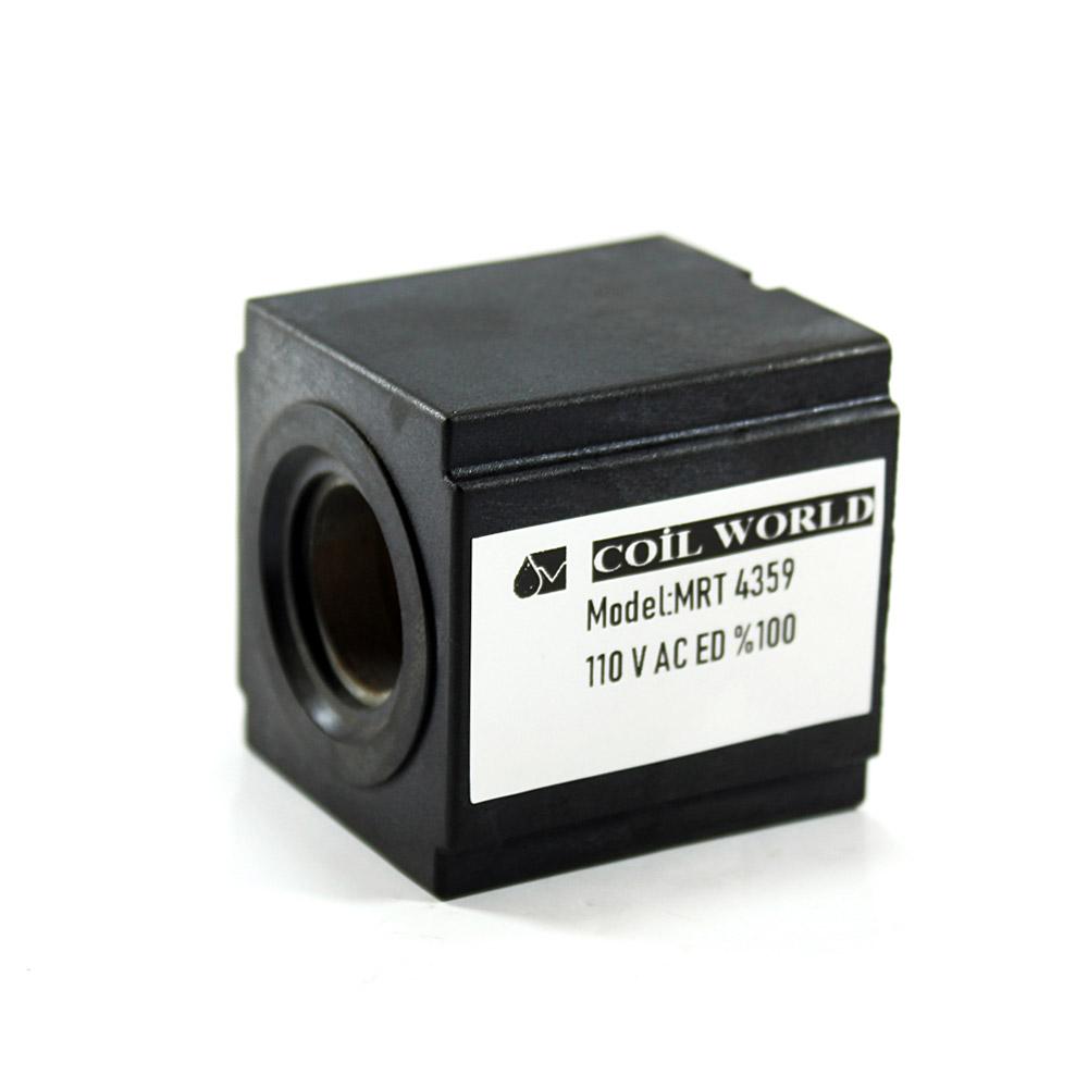 MRT 4359 110V AC Hidrolik Valf Bobini İç Çap 19,3mm x Boy 47,5mm - DIN 43650