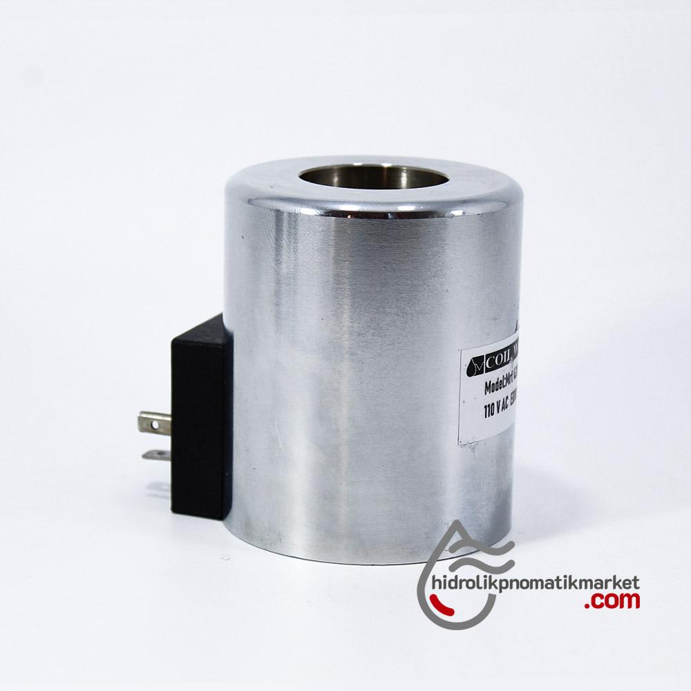 MRT 4380 110V AC Hidrolik Bobin İç Çap 31,2mm x Boy 75mm - DIN 43650 hydro-pack vickers