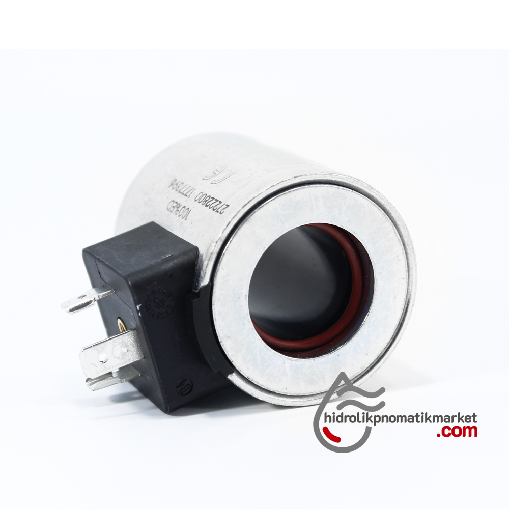 Coil World MRT 4392 110V AC Hidrolik Valf Bobini İç Çap 22mm x Boy 52mm - DIN 43650
