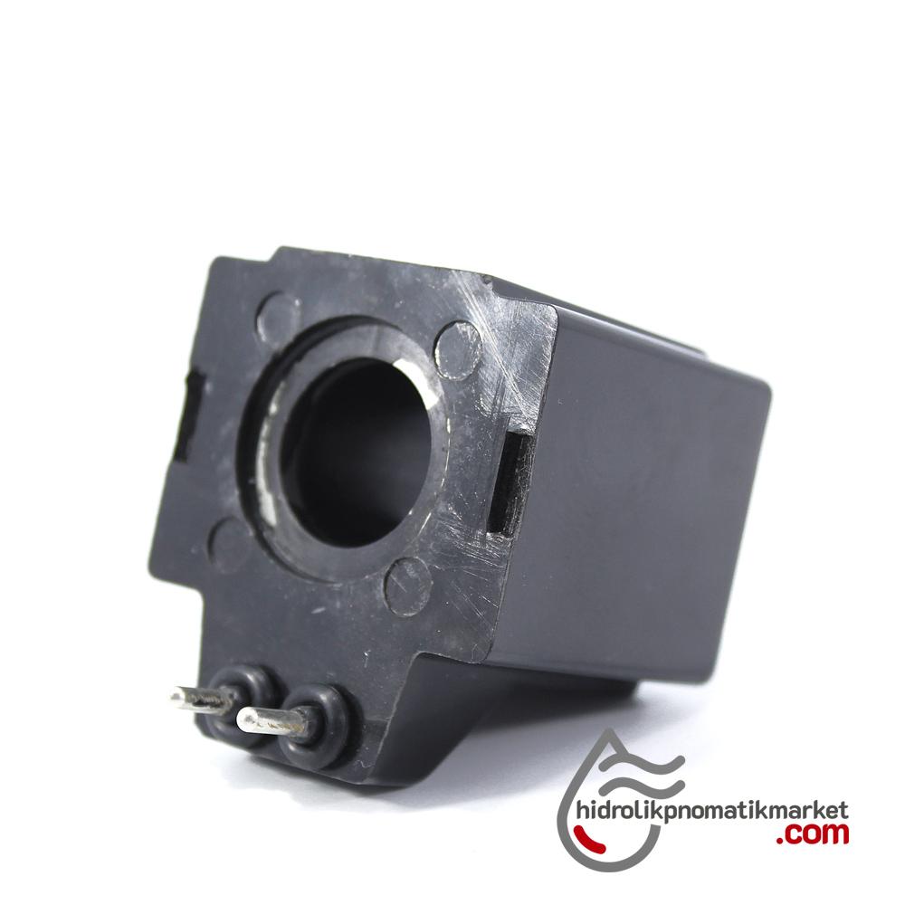 MRT 4411P 110V AC Hidrolik Valf Bobini İç Çap 19,2mm x Boy 47mm - Pimli