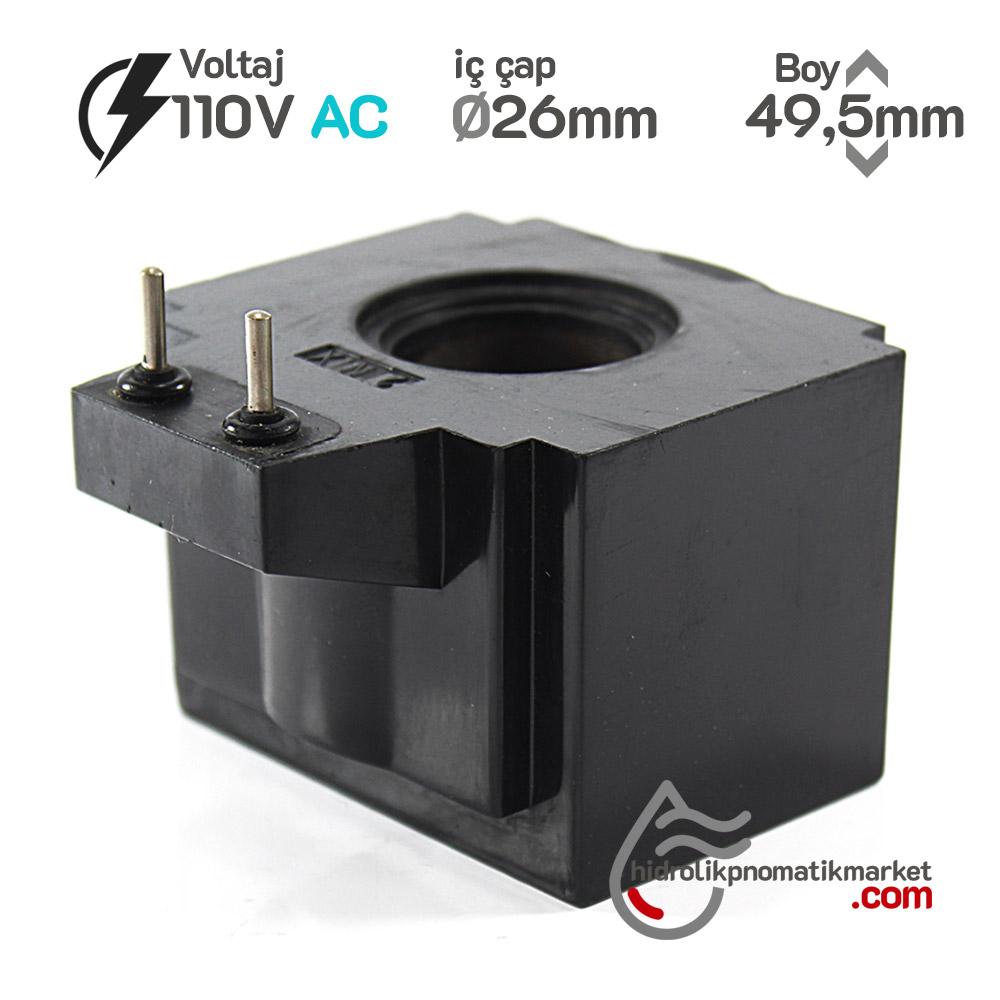 MRT 4432-P110V AC Hidrolik Bobin İç Çap 26mm x Boy 49,5mm - PİMLİ