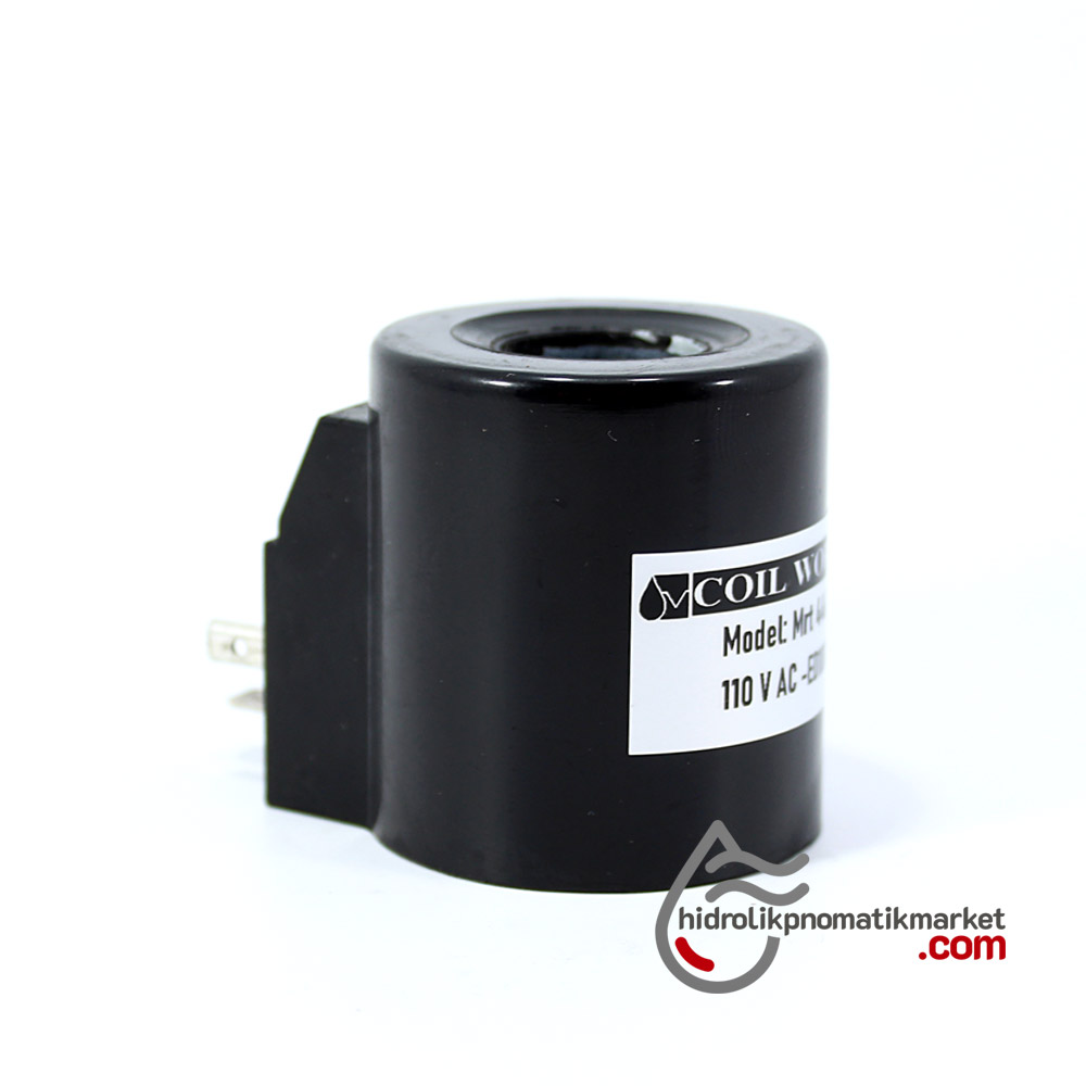 MRT 4467 110V AC Hidrolik Bobin İç Çap 20mm x Boy 51,5mm - DIN 43650 crox bobin valf