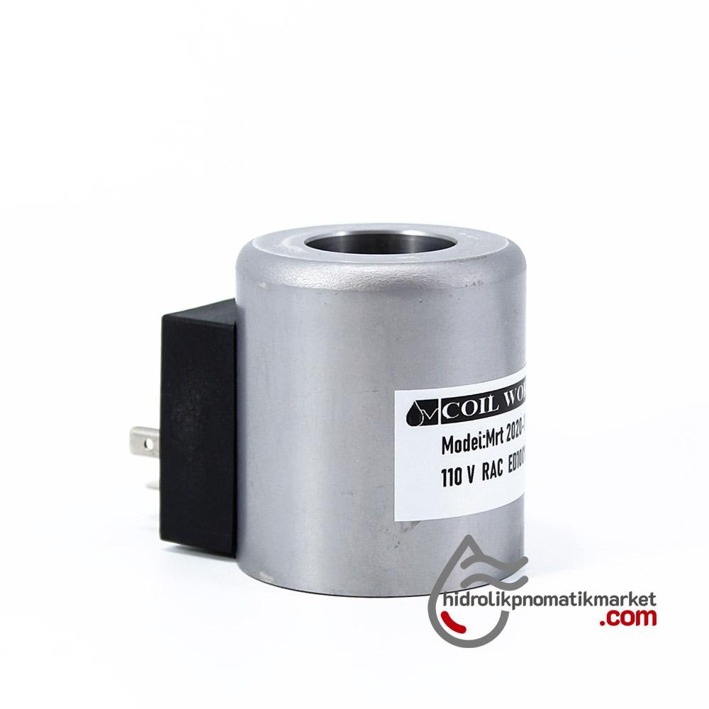 MRT 2020-1 110V RAC Hidrolik Valf Bobini İç Çap 23,2mm x Boy 50,5mm - DIN 43650