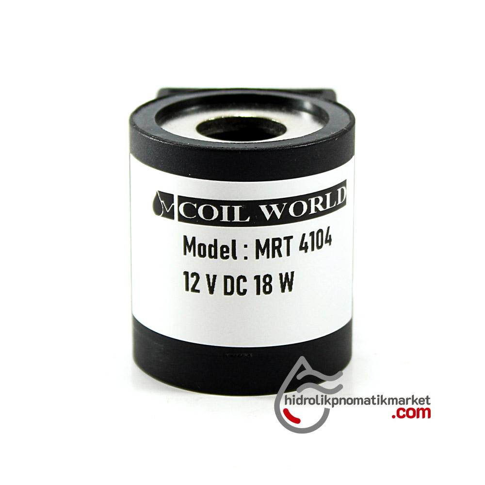 MRT 4104 12V DC Hidrolik Valf Bobini İç Çap 13mm x Boy 37,5mm - DIN 43650