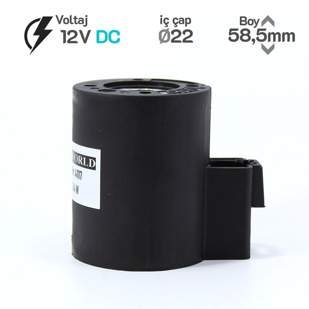 MRT 4117  12 DC İş Makinesi Bobini İç Çap 22mm x Boy 58,5mm - Deutsch