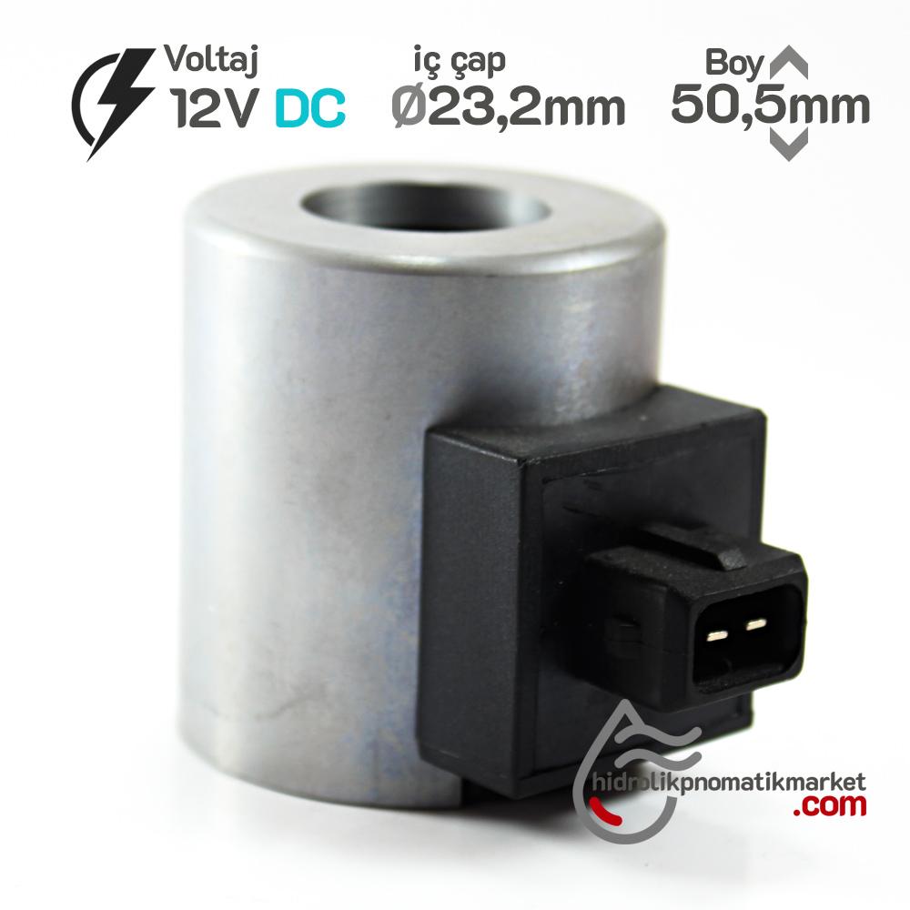 MRT 4372 12V DC Metal İş Makinesi Bobini İç Çap 23,2mm x Boy 50,5mm - AMP