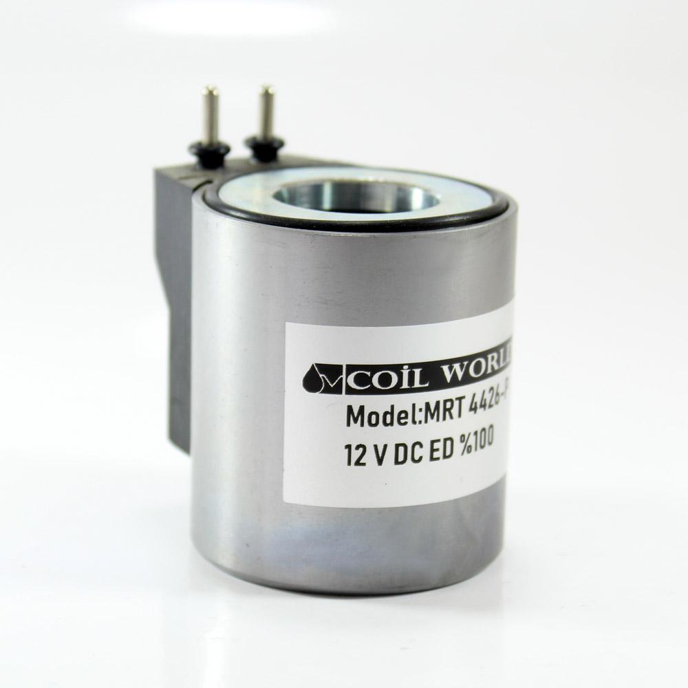 MRT 4426-P 12V DC Pimli Piston Valf Bobini Metal İç Çap 23,2mm x Boy 50,5mm - PİMLİ