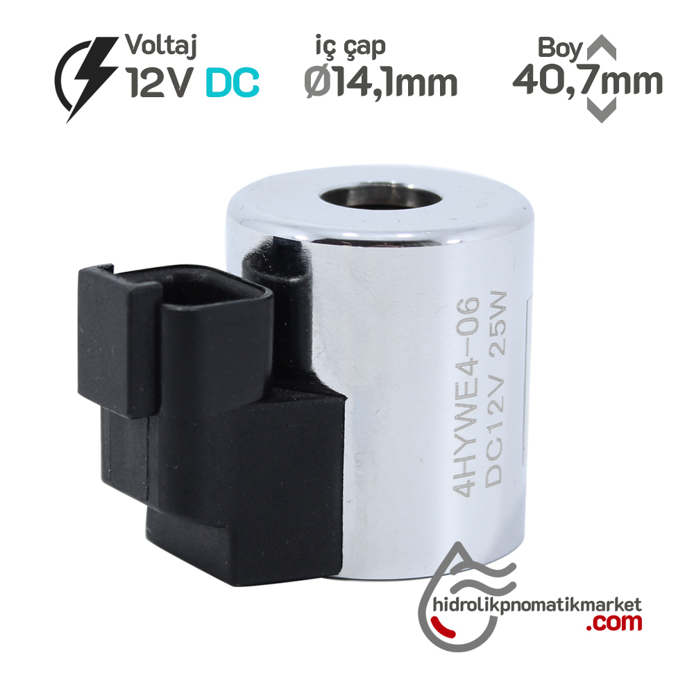 MRT 4431 12V DC Metal İş Makinesi Bobini İç Çap 14,1mm x Boy 40,6mm - DEUTSCH