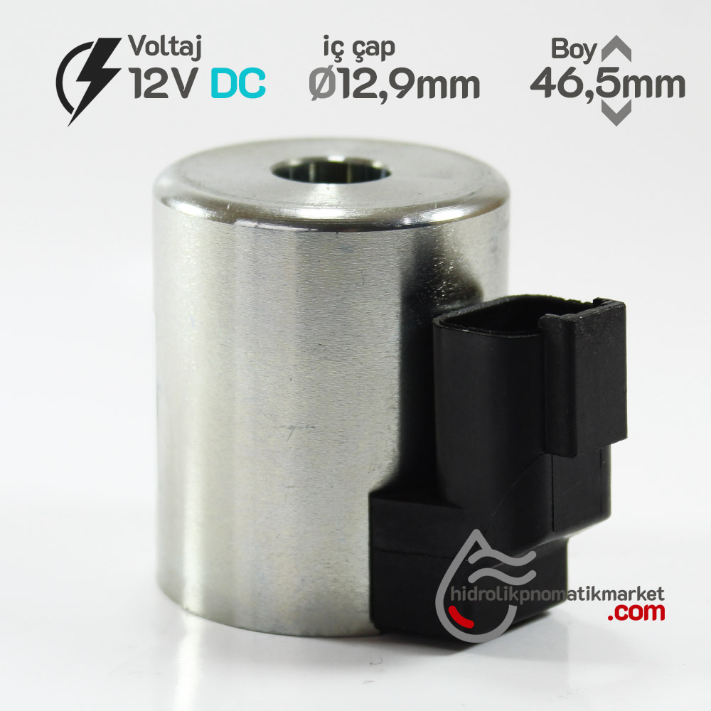 MRT 4435 12V DC Metal İş Makinesi Bobini İç Çap 12,9mm x Boy 46,5mm - DEUTSCH