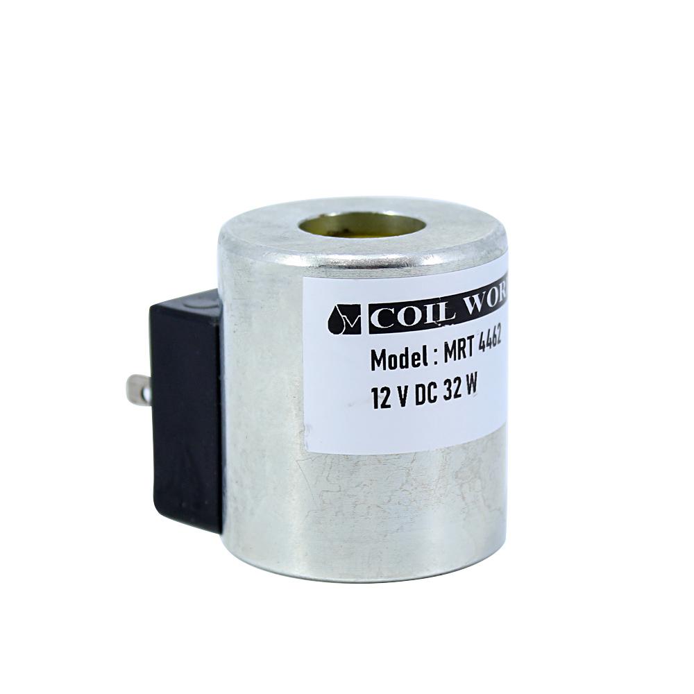 Coil World MRT 4462 12V DC Metal Hidrolik Valf Bobini İç Çap 18mm x Boy 47mm - DIN 43650