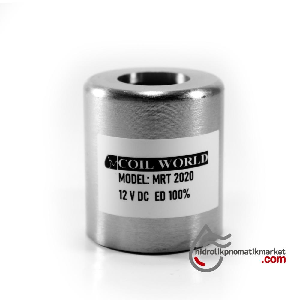 MRT2020 Hidrolik Valf Bobin 12V DC İç Çap 23,2mm x Boy 50,5mm - DIN 43650 Soket Bobin