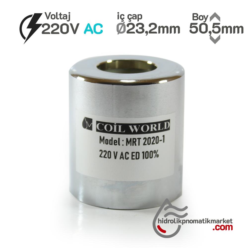 MRT 2020-1 220V AC Hidrolik Valf Bobini İç Çap 23,2mm x Boy 50,5mm - DIN 43650