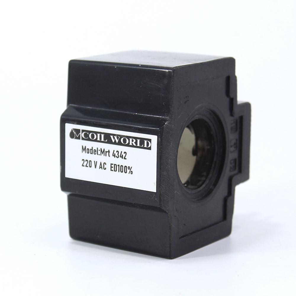 MRT 4342 220V AC Hidrolik Valf Bobini İç Çap 26,1mm x Boy 49,5mm - DIN 43650
