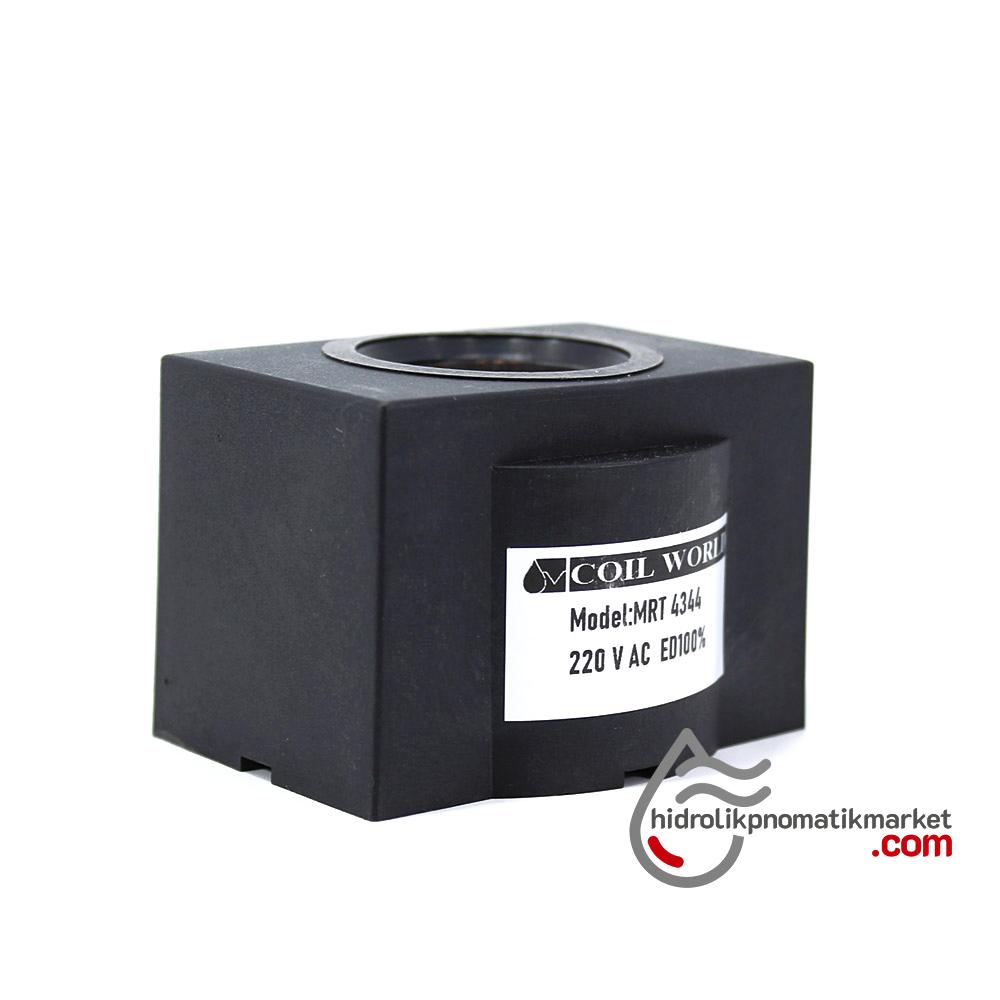 MRT 4344 220V AC Hidrolik Valf Bobini İç Çap 26,4mm x Boy 47,5mm - DIN 43650 yedek parçalar soketler