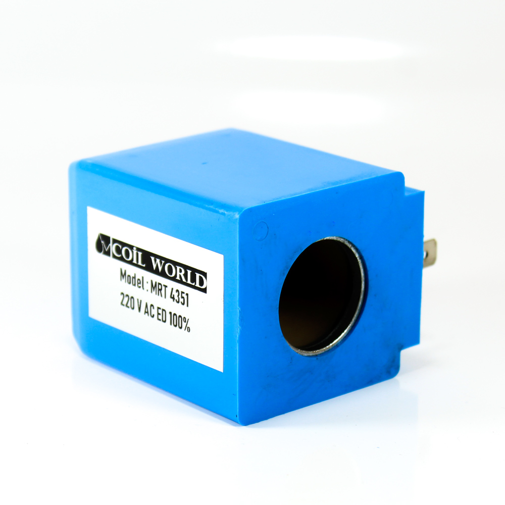 MRT 4351 220V AC Hidrolik Valf Bobini İç Çap 23,7mm x Boy 60,7mm - DIN 43650
