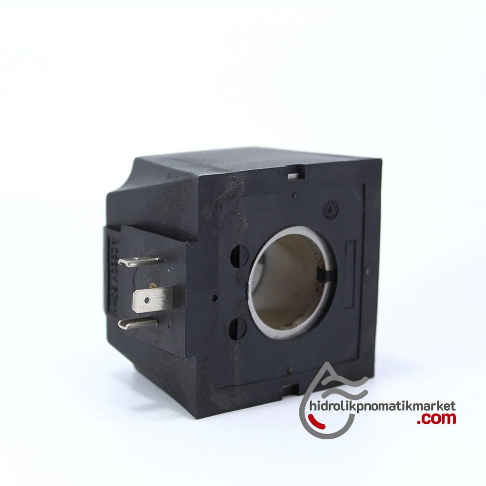 MRT 4355 220V AC Hidrolik Bobini İç Çap 26,2mm x Boy 47mm - Soket 43650 aron bobin