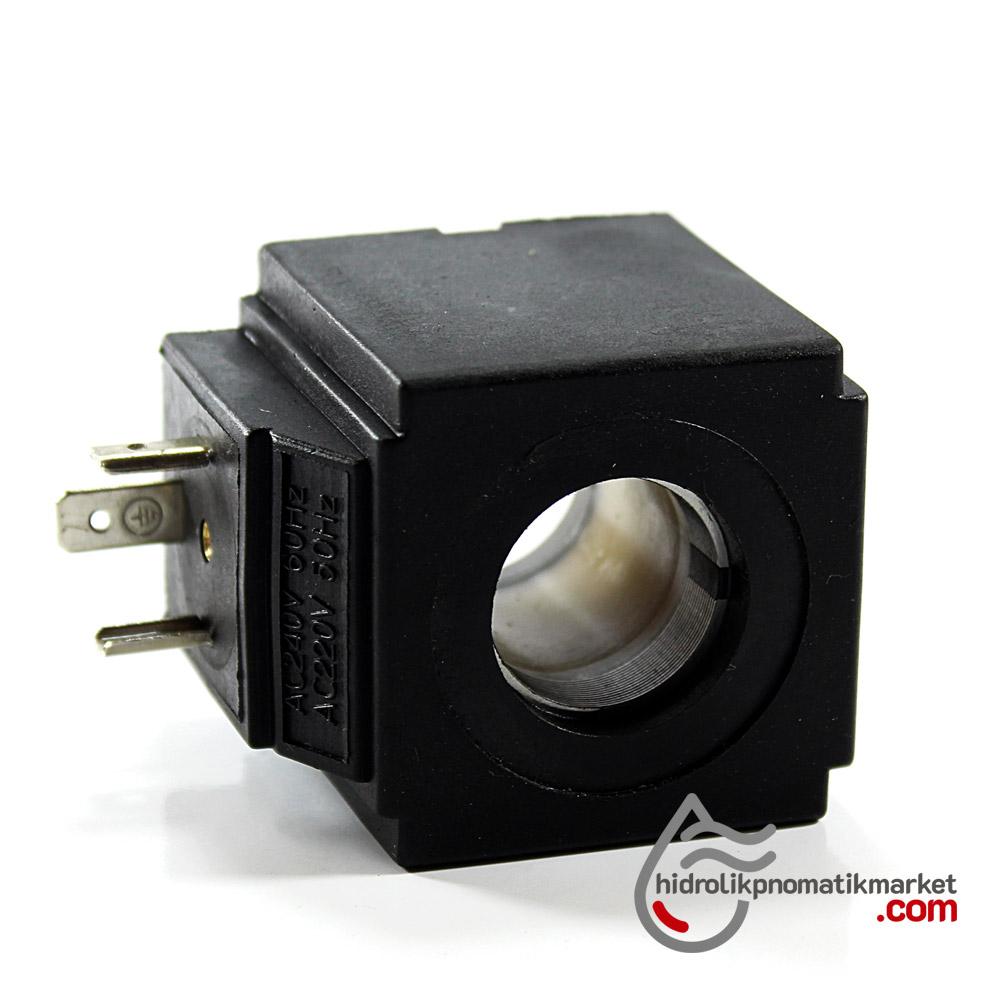 MRT 4357 220V AC Hidrolik Valf Bobini İç Çap 21,1mm x Boy 44,2mm - DIN 43650
