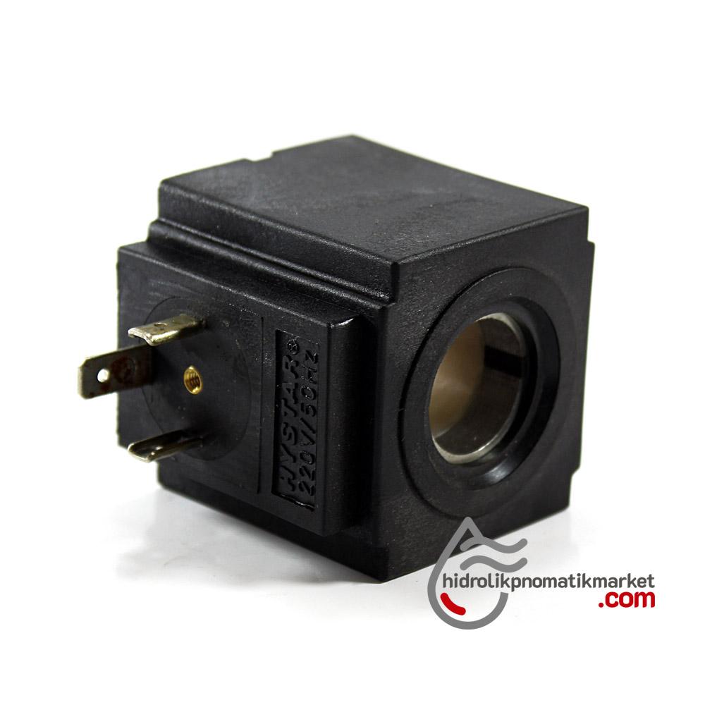 MRT 4359 220V AC Hidrolik Valf Bobini İç Çap 19,3mm x Boy 47,5mm - DIN 43650