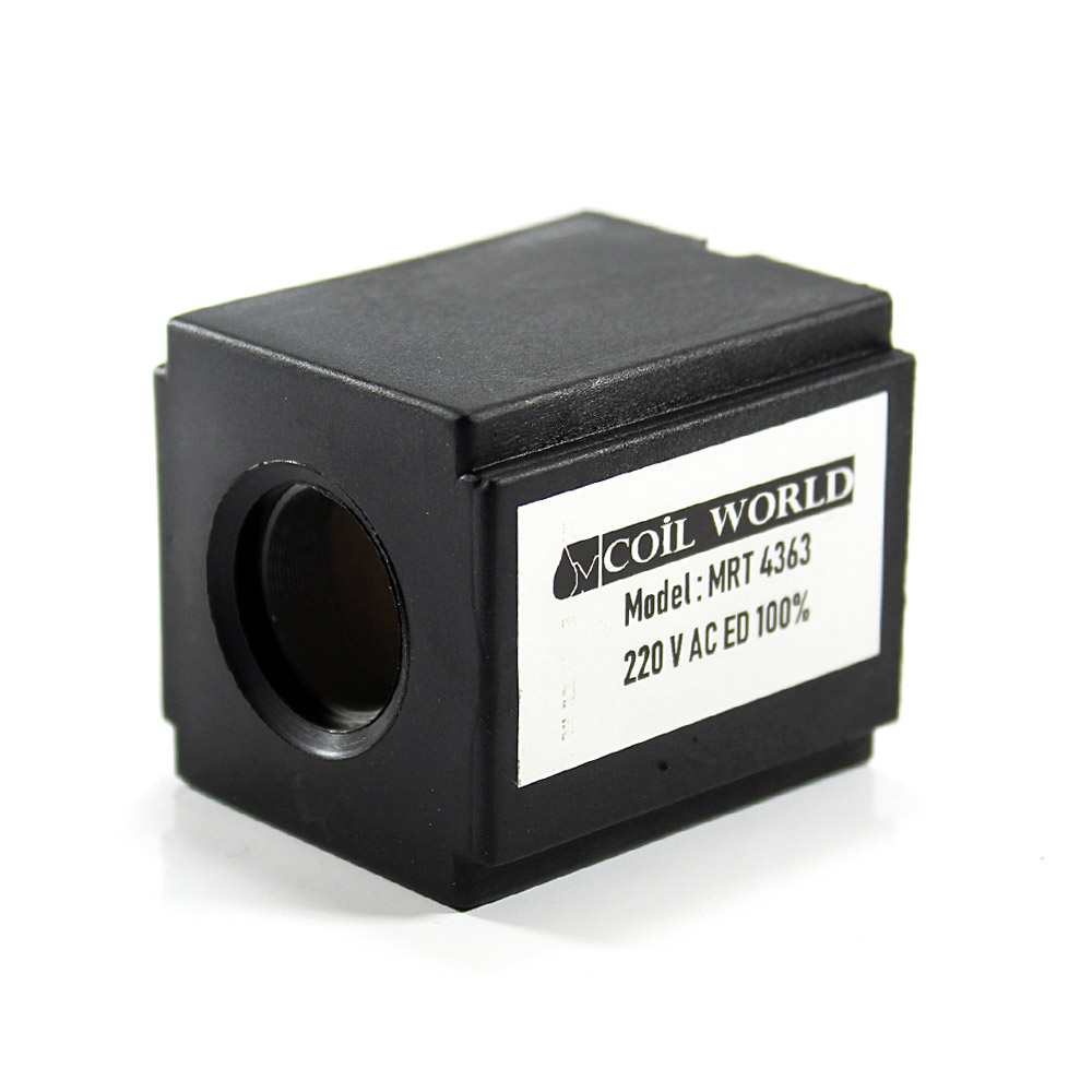 MRT 4363 220V AC Hidrolik Valf Bobini İç Çap 20mm x Boy 52,5mm - DIN 43650