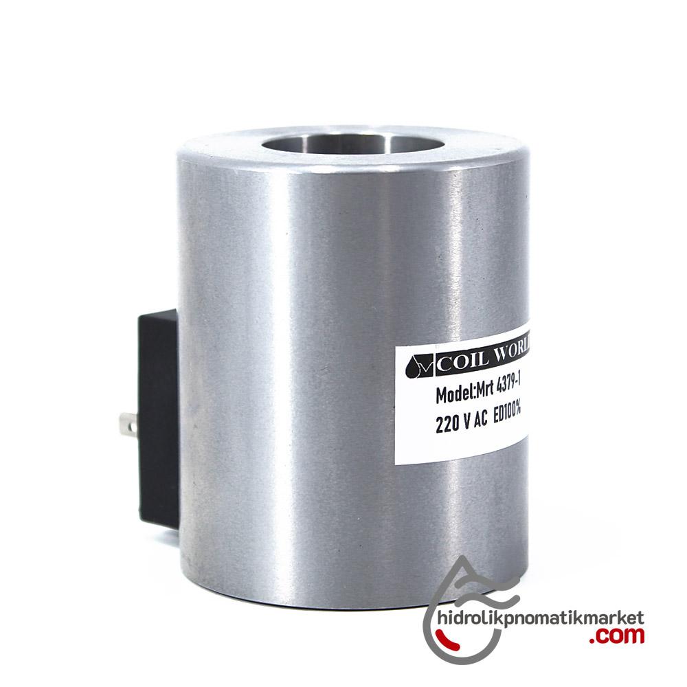 MRT 4379-1 220V AC Hidrolik Bobin İç Çap 31,5mm x Boy 75mm - DIN 43650 hydro-pack