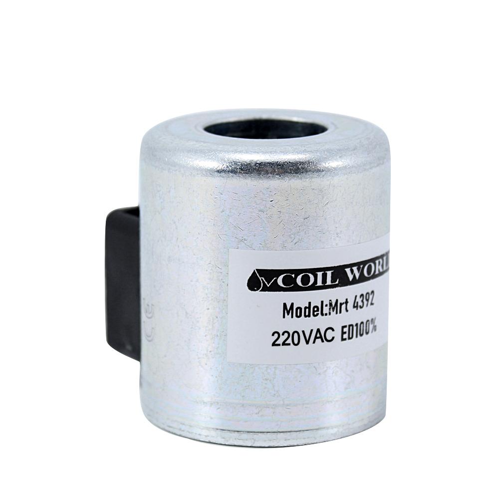 Coil World MRT 4392 220V AC Hidrolik Valf Bobini İç Çap 22mm x Boy 52mm - DIN 43650