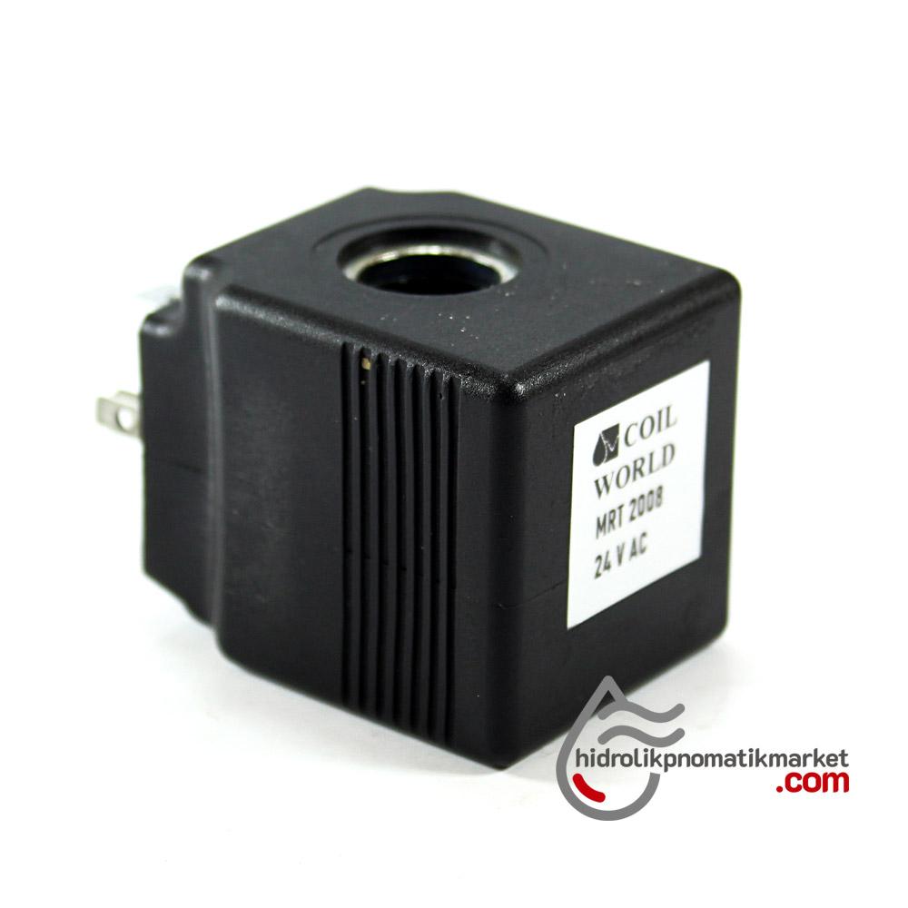 MRT 2008 24V AC Hidrolik Valf Bobini İç Çap 13mm x Boy 38,5mm - DIN 43650