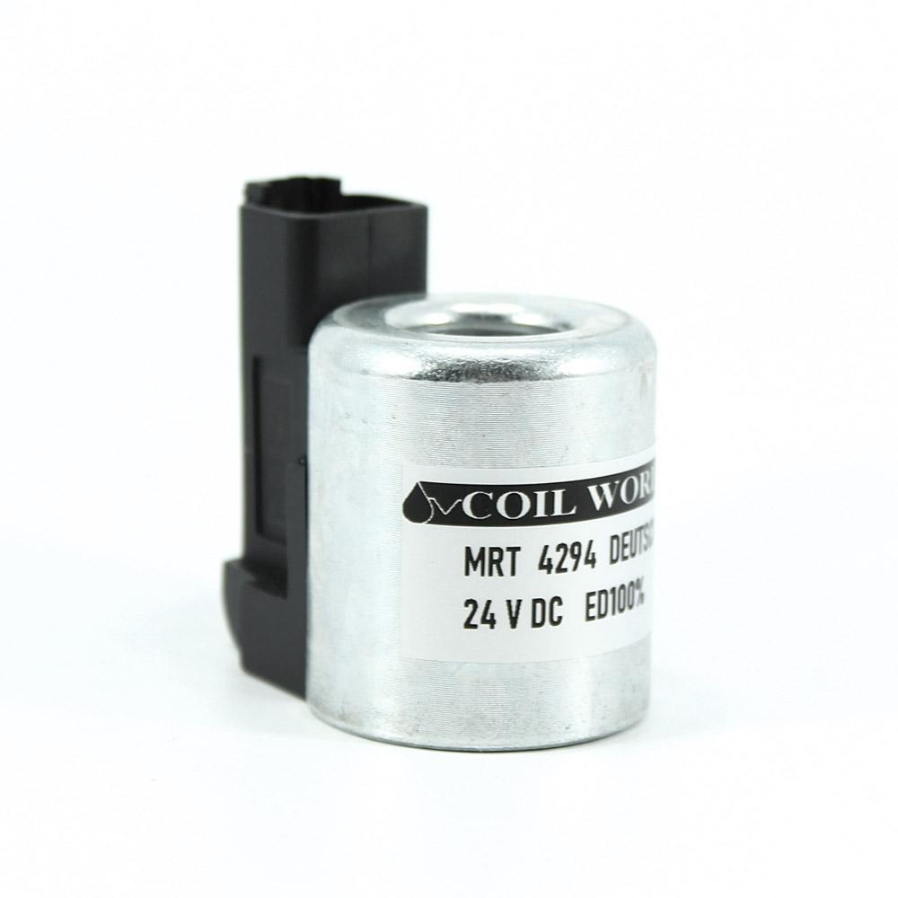 MRT 4294 24V DC Deutsch  Hidrolik Valf Bobini İç Çap 18mm x Boy 40mm - DIN 43650 HYDAC 3000249
