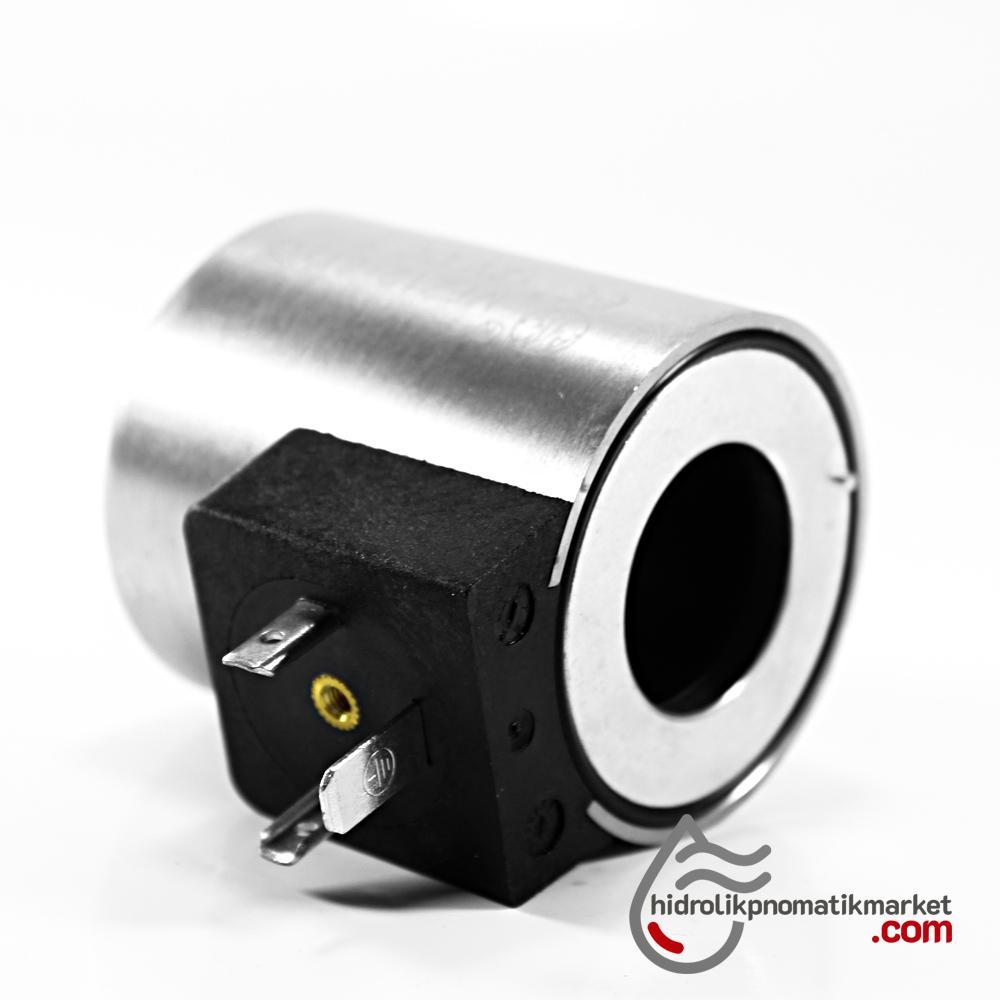 MRT 2020 24V DC Hidrolik Valf Bobini İç Çap 23,2mm x Boy 50,5mm - DIN 43650