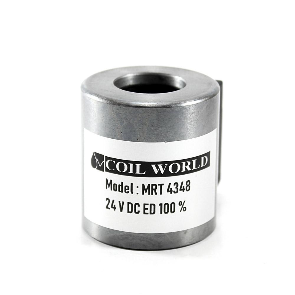 MRT 4348 24V DC Hidrolik Valf Bobini İç Çap 19,2mm x Boy 40mm - DIN 43650