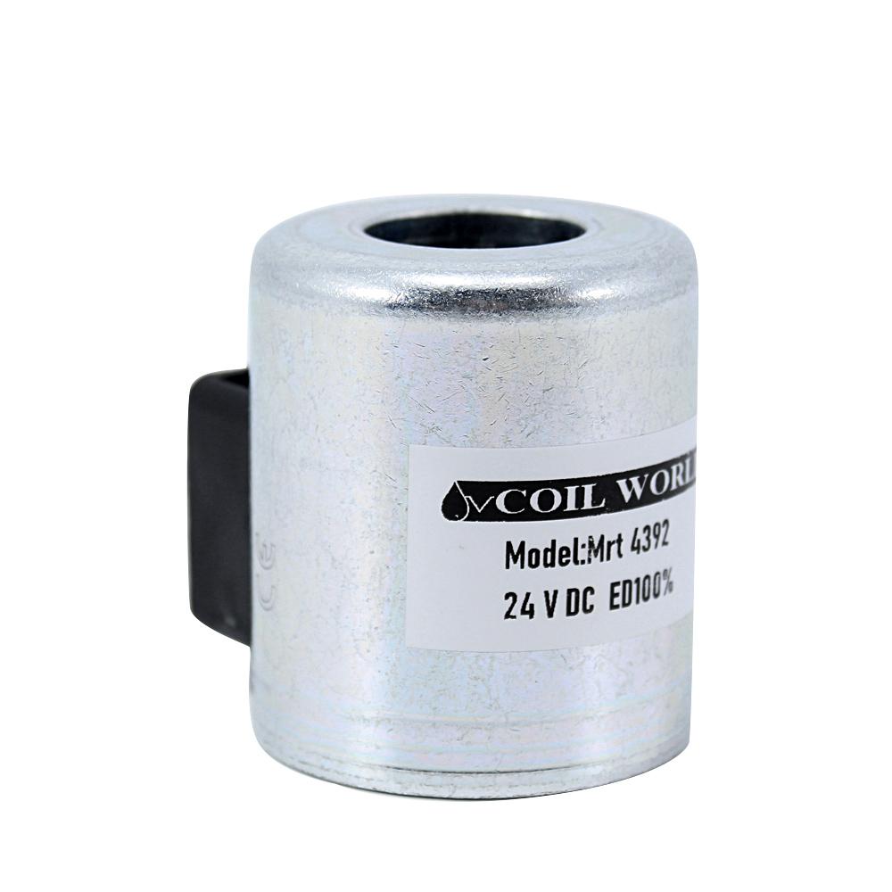 Coil World MRT 4392 24V DC Hidrolik Valf Bobini İç Çap 22mm x Boy 52mm - DIN 43650