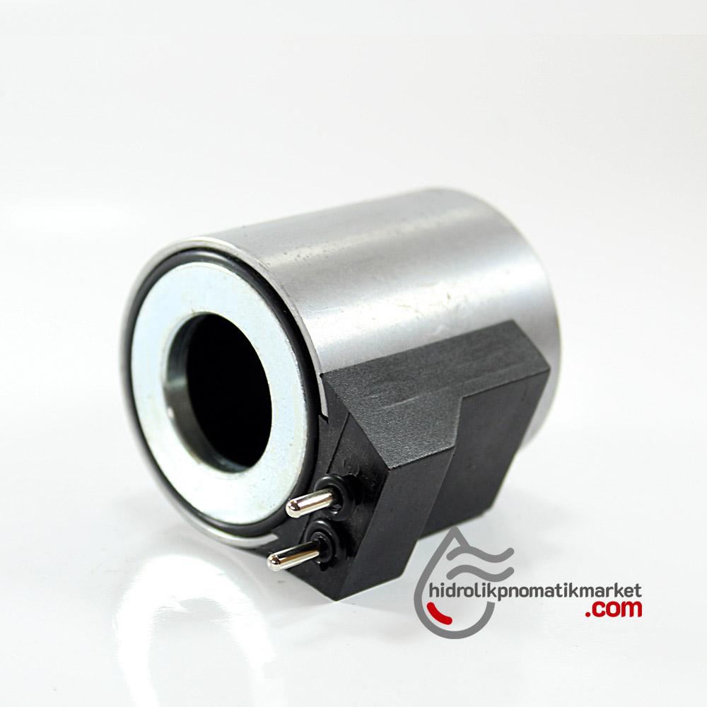 MRT 4426-P 110V AC Pimli Hidrolik Valf Bobini Metal İç Çap 23,2mm x Boy 50,5mm - PİMLİ