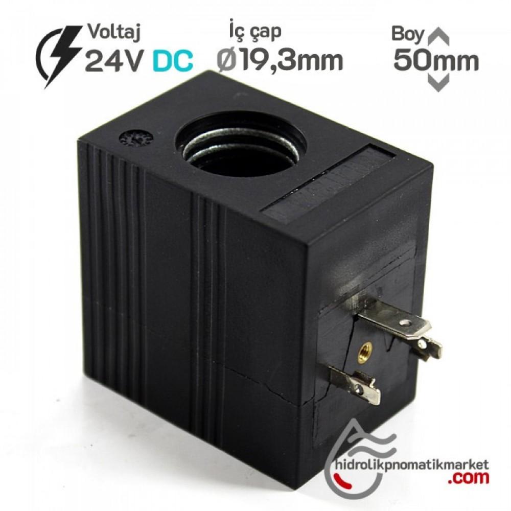 MRT 4439 24V DC Hidrolik Valf Bobini İç Çap 19,3mm x Boy 50mm - Universal