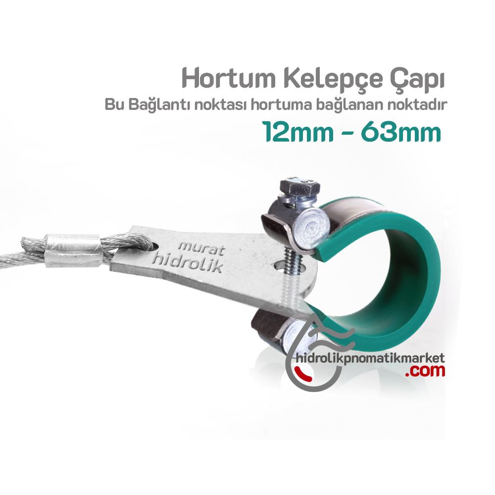 Hidrolik Hortum Emniyet Kelepçe Seti Uyumlu Çap Aralığı 12mm - 70mm