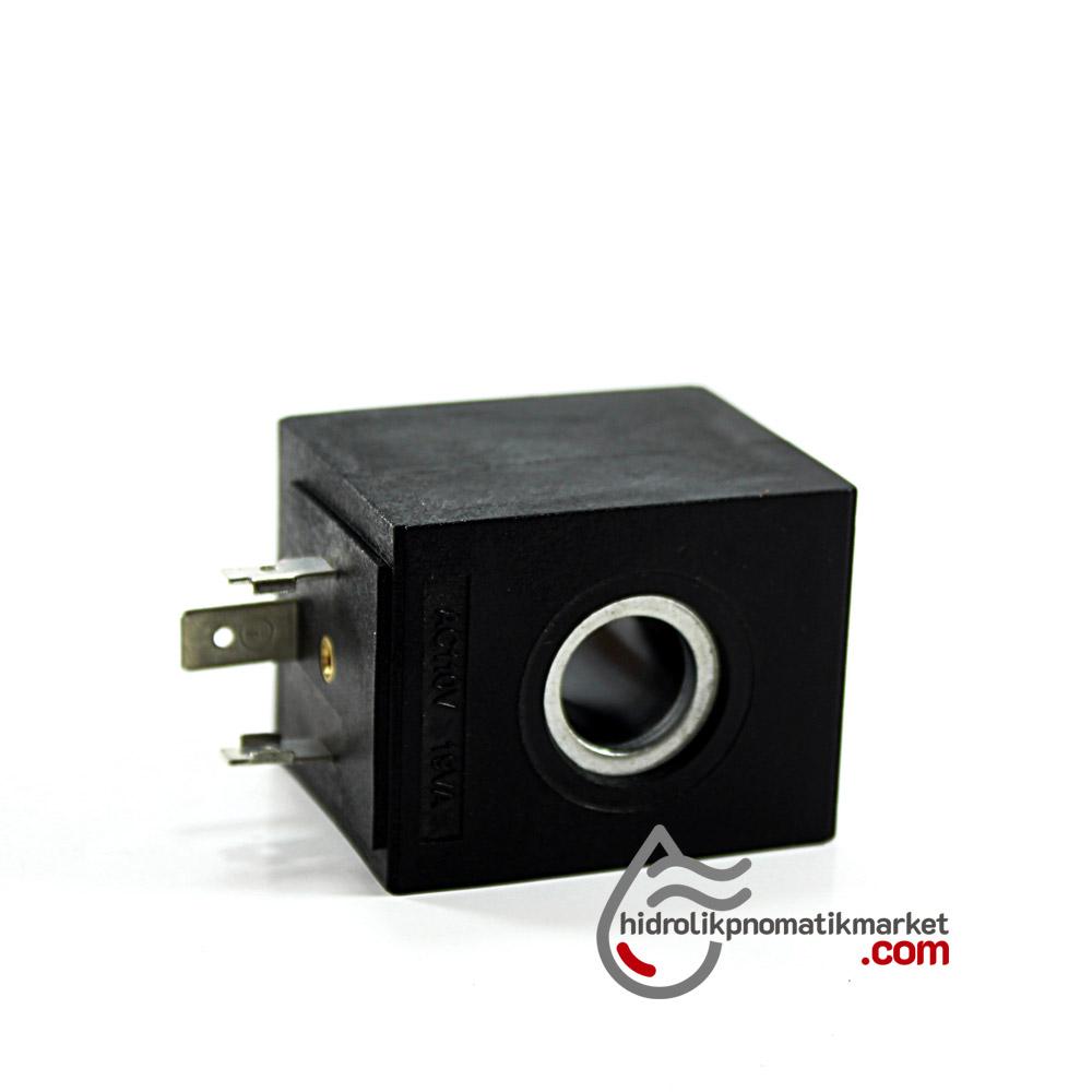 MRT2010 Pnömatik Valf Bobin 110V AC İç Çap 13mm x Boy 37mm - DIN 43650 Soket Bobin