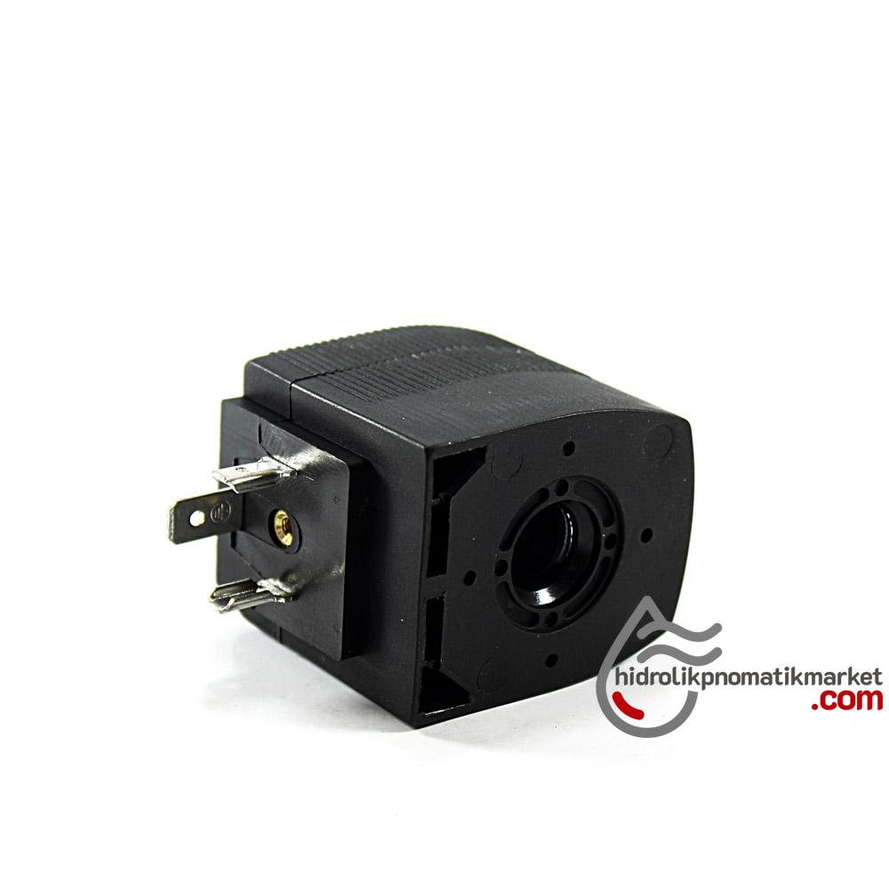 MRT4005 Pnömatik Valf Bobin 110V AC İç Çap 12mm x Boy 40,5mm - DIN 43650 Soket Bobin