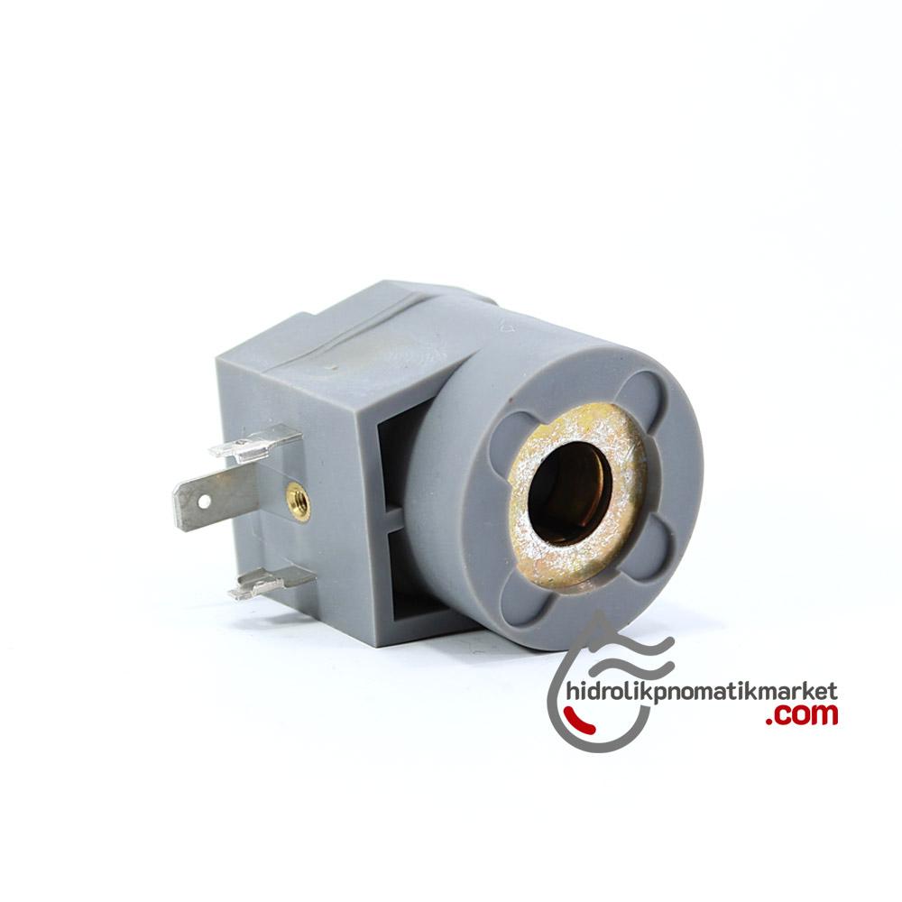 MRT4017 Pnömatik Valf Ventil Bobin 110V AC İç Çap 12mm x Boy 38,5mm - DIN 43650 Soket Bobin