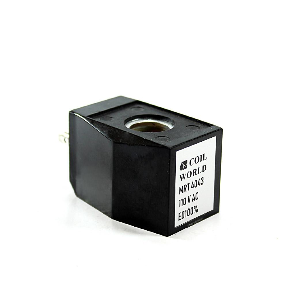 MRT4043 Pnömatik Valf Ventil Bobin 110V AC İç Çap 13,5mm x Boy 31,5mm - DIN 43650 Soket Bobin