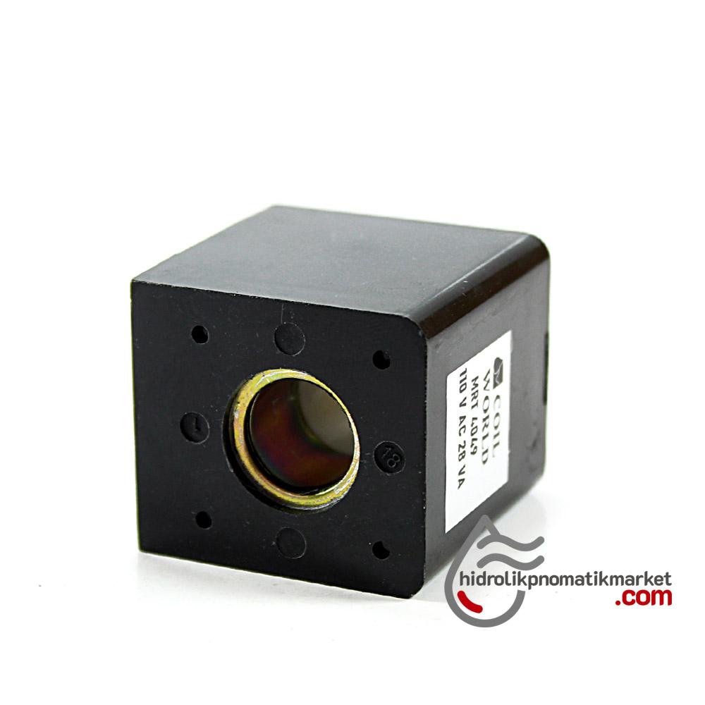 MRT4049 Pnömatik Hava Ventil Valf Bobini 110V AC İç Çap 14,5mm x Boy 42,5mm - DIN 43650 Soket Bobin