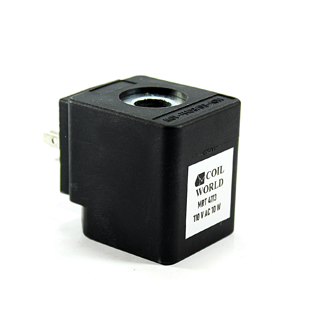 MRT4113 Pnömatik Hava Ventil Valf Bobini 110V AC İç Çap 15mm x Boy 39mm - DIN 43650 Soket Bobin