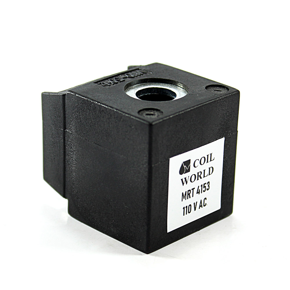 MRT4153 110V AC Pnömatik Valf Bobini İç Çap 13mm x Boy 35,5mm - DIN 43650 Soket Bobin