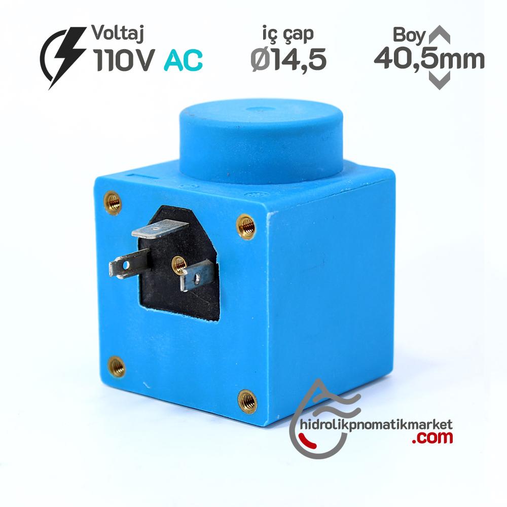 MRT 4298 110V AC Hidrolik Valf Bobini İç Çap 15mm x Boy 45,5mm - DIN 43650 danfos
