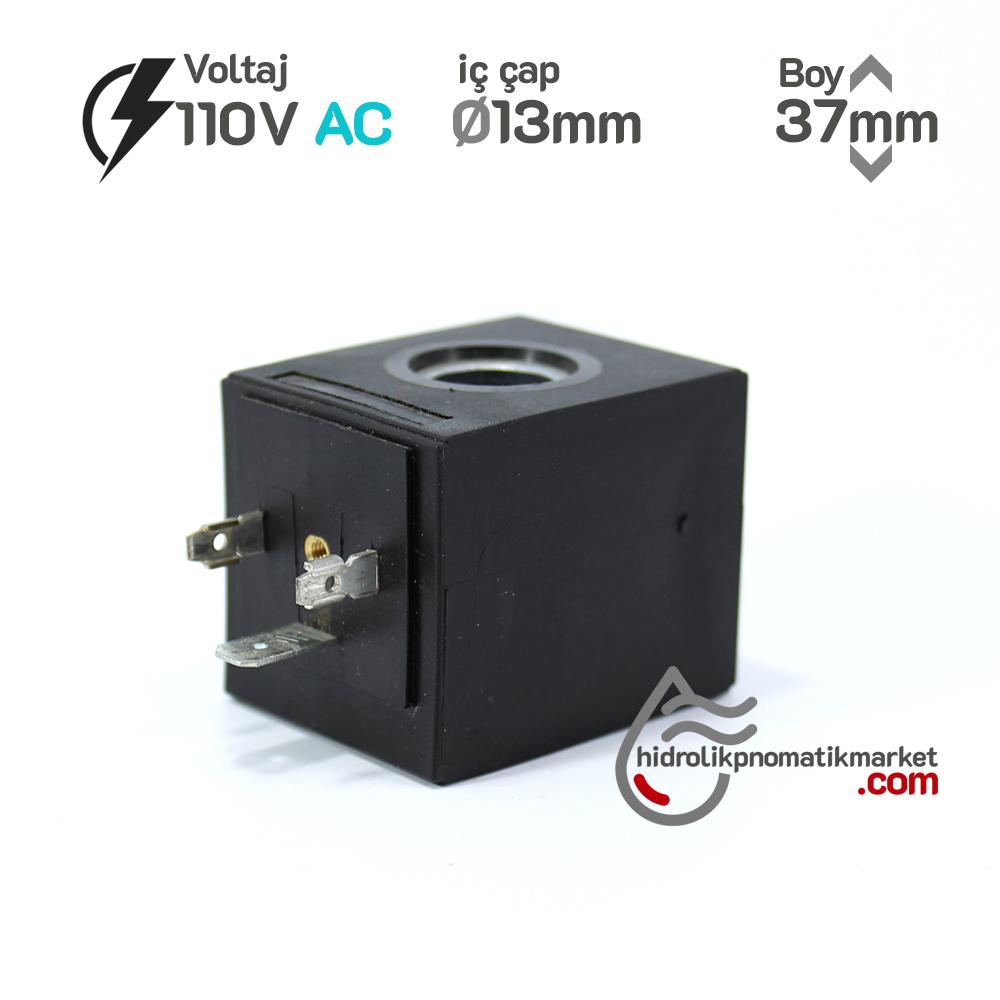 MRT 4402 110V AC Hidrolik Valf Bobini İç Çap 13mm x Boy 37mm - DIN 43650 EVI5P/13 amısco bobin