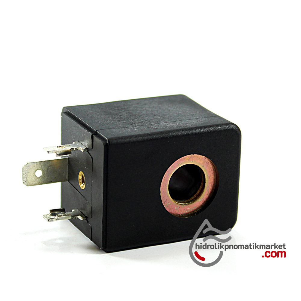 MRT4136 Pnömatik Hava Ventil Valf Bobini 12V DC İç Çap 10mm x Boy 30mm - DIN 43650 Soket Bobin