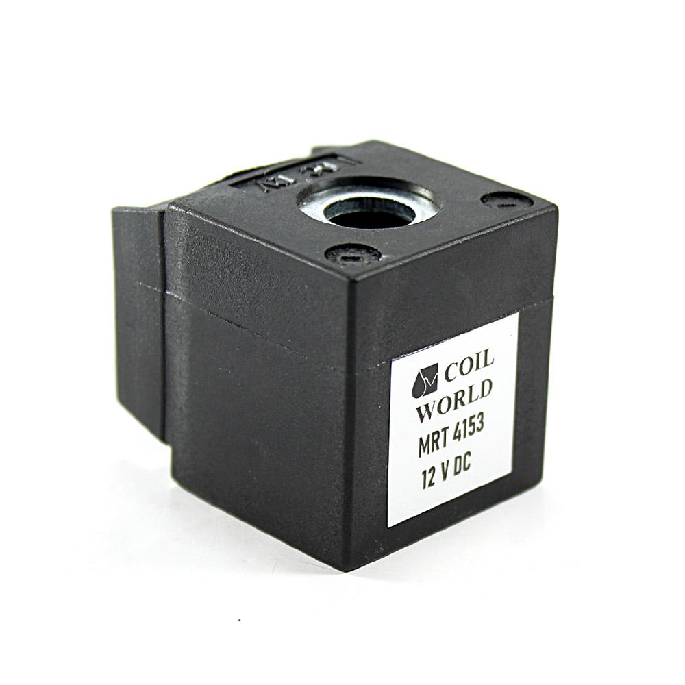 MRT4153 12V DC Pnömatik Valf Bobini İç Çap 13mm x Boy 35,5mm - DIN 43650 Soket Bobin
